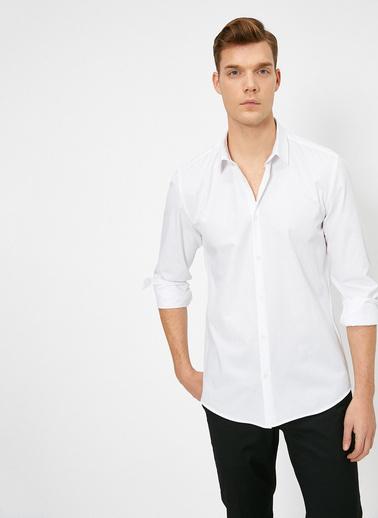 Koton Dügme Detayli Gömlek Beyaz